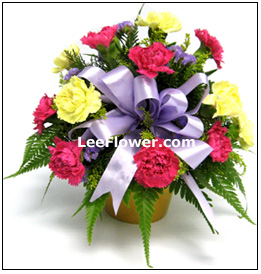 (  FA0038  )  With Appreciation        Mixed Flower Arrangement with Carnation.
