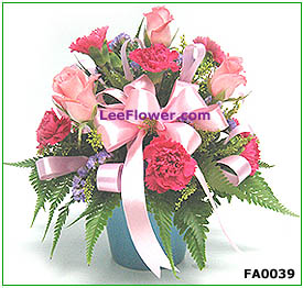 (  FA0039  )   Ocean of Love   |    Mixed  Carnation ~ Flower Arrangement....
