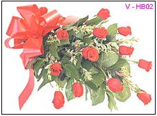 V-HB02  ( 12 Stalks of Red Roses ) LeeFlower.com