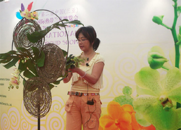 Ms. Kathy AIFD -  In China for the 2nd  China ( sanya ) International Orchid Show. ... 28th December  2007