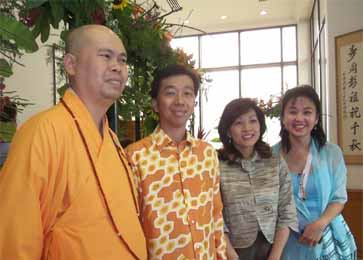 VENERABLE MING JI  and  Dato' Seri Ong Ka Ting  and his wife Datin Seri Wendy Ong  and  Kathy  Ong AIFD -  Wesak Day Year 2007